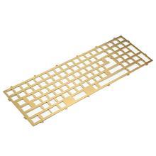 Латунная пластина YMDK Melody 96 PVD, алюминиевая пластина, акриловое дно для клавиатуры Melody 96 Case