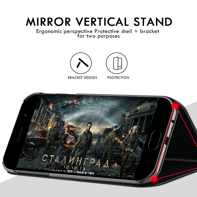 Smart Mirror Flip Case For Samsung Galaxy A51 A21s A71 A50 A31 A70 S9 S8 S20 FE S21 Ultra Note 20 10 9 8 S10 Plus A20e Cover
