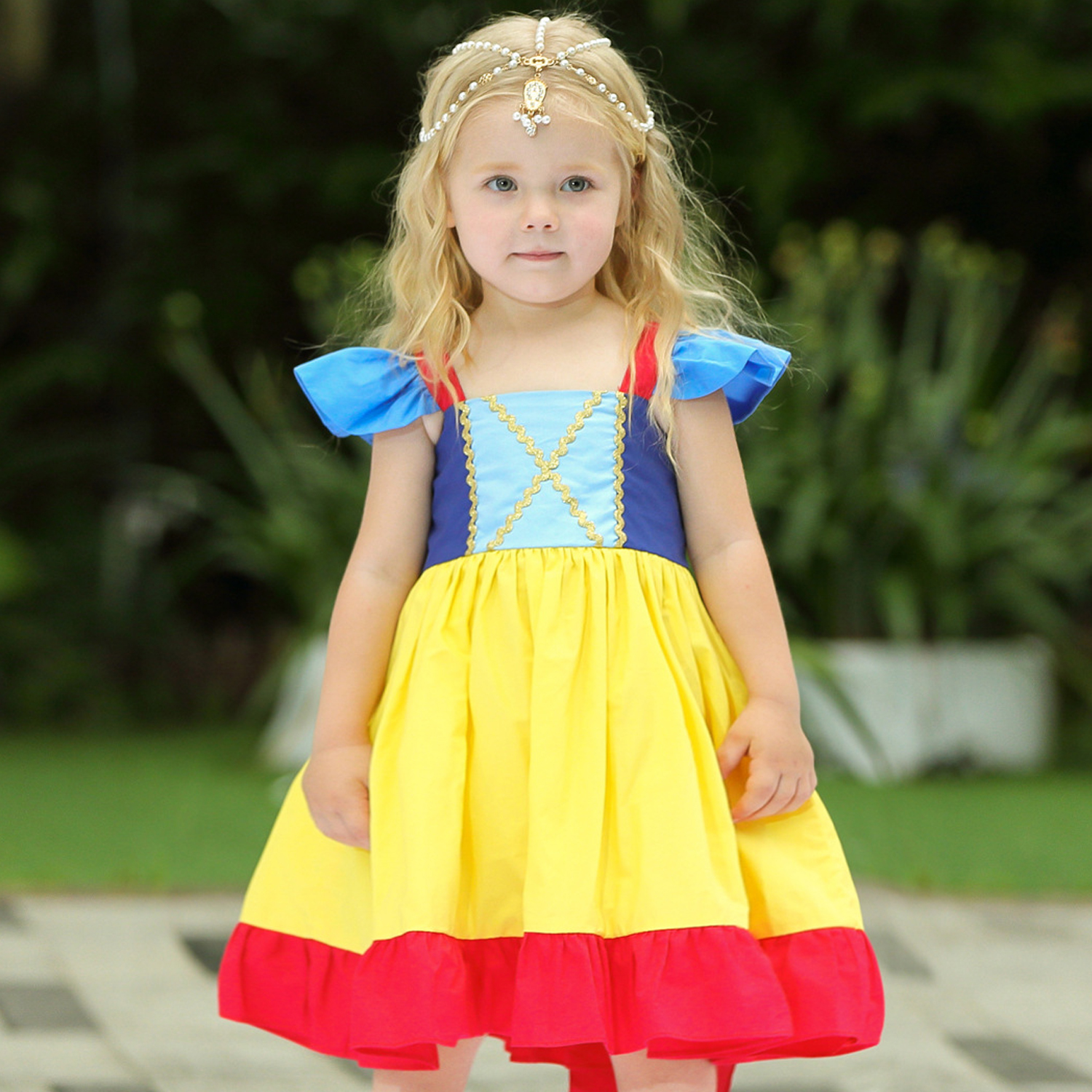Infant Girls Christmas Snow White Princess Dresses Kids Cosplay Costume Halloween Clothes Toddler Party rapunzelDress for Girl 5