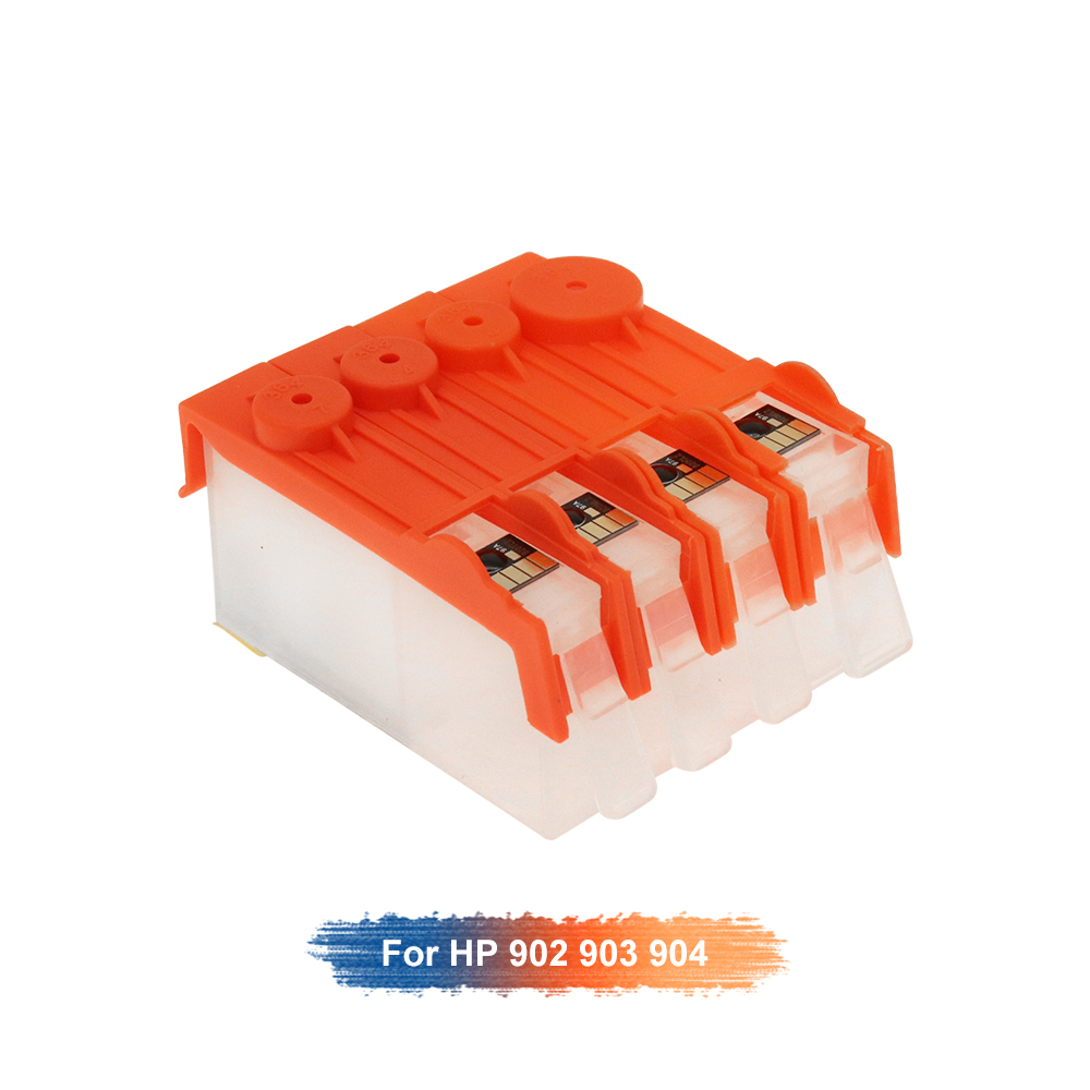 Replacement For <font><b>HP</b></font> <font><b>903</b></font> 904 902 <font><b>refillable</b></font> ink cartridge for OfficeJet 6950 6956 OfficeJe t Pro 6960 6970 for <font><b>903</b></font> with ARC chips image