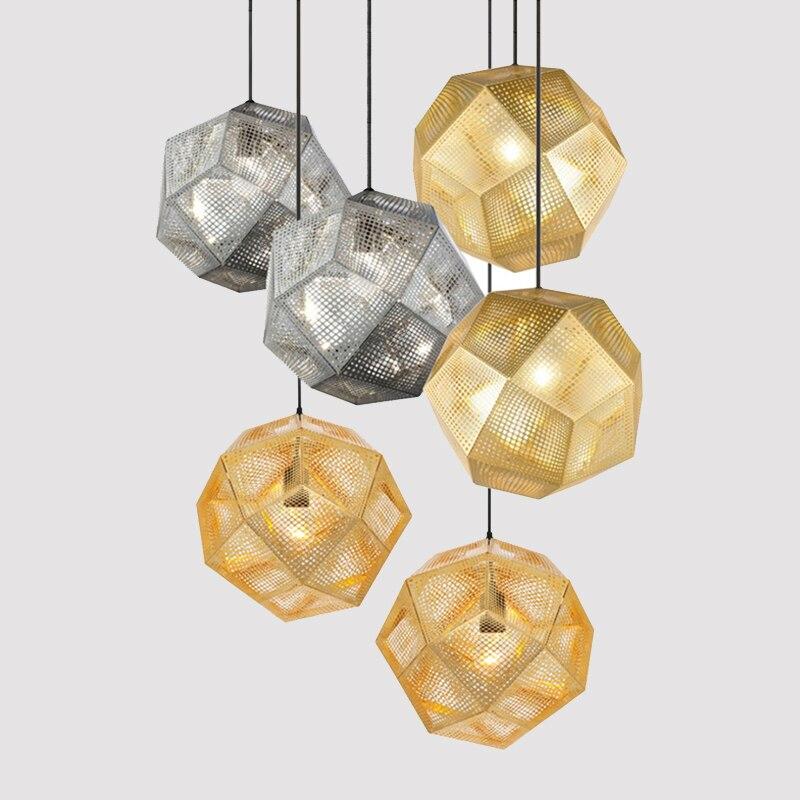 Современные подвесные светильники в стиле индастриал для отелей, ресторанов, баров, подвесные светильники из нержавеющей стали золотого/се...
