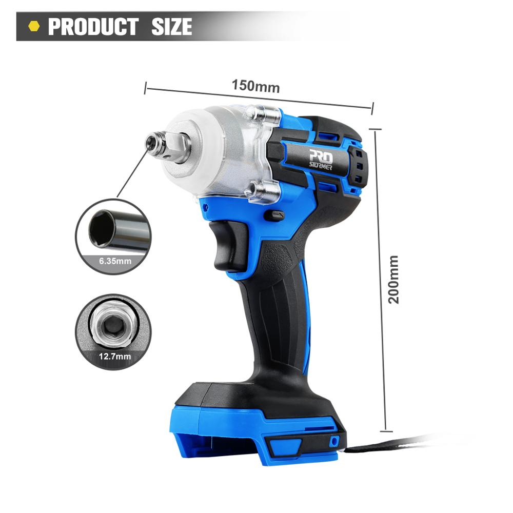 Electric Brushless Wrench Impact 21V Cordless Electric Drill Screwdriver Wrench Without Lithium Battery By PROSTORMER(China)
