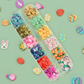 Пасхальные яйца полимерные глиняные ломтики Slimes, блестки для ногтей, 3D хлопья для маникюра, пасхальный дизайн кролика, аксессуары для дизай...
