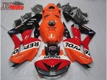 цена на Motorcycle Fairing Kit For Honda CBR600RR F5 2013-2017 Injection ABS Plastic Fairings 13-17 Gloss orange Repsol Red Bodyworks