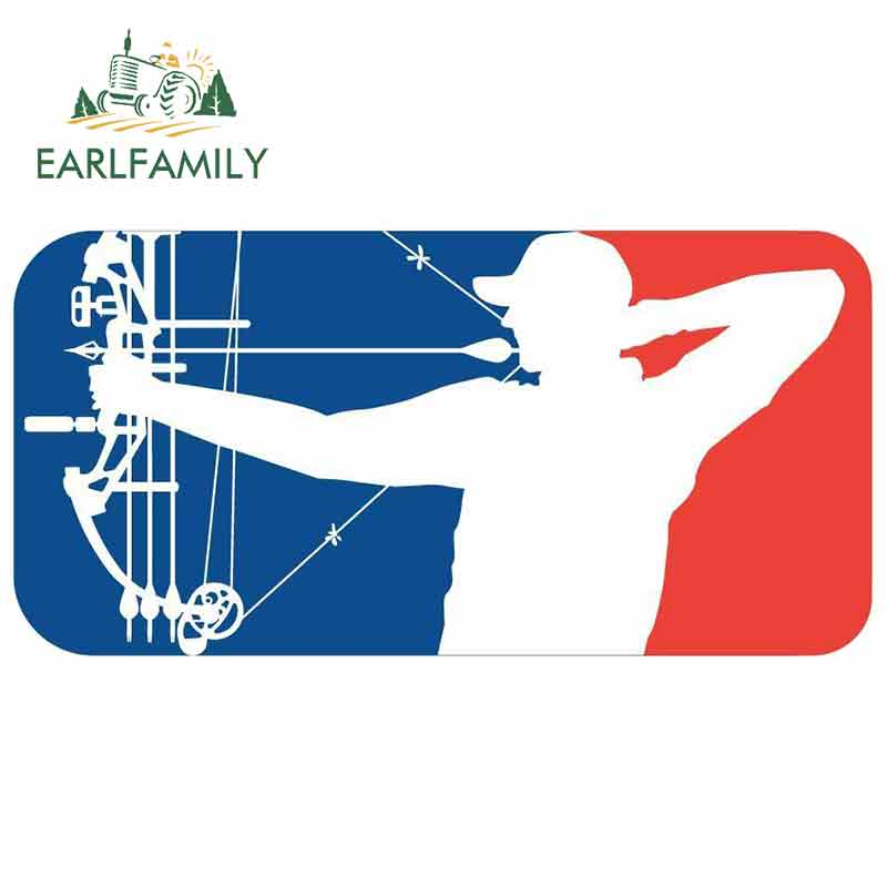 EARLFAMILY 13cm X 6.5cm For Major League Bowhunter Funny Car Stickers Waterproof DIY 3D Scratch-proof Sticker Decal For VAN RV