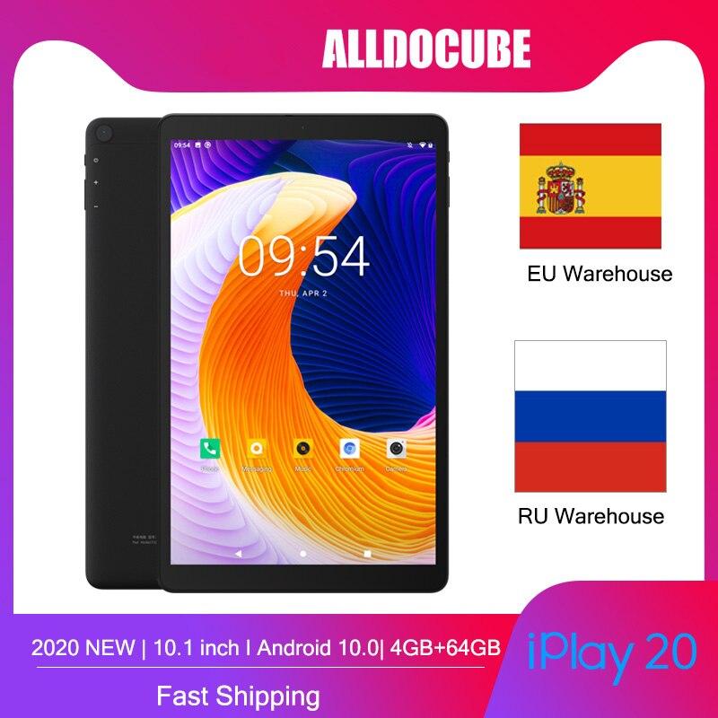Alldocube iPlay20 مكالمة هاتفية أجهزة لوحية Andorid 10.0 ثماني النواة 4GB RAM 64GB ROM 10.1 بوصة كمبيوتر لوحي بلوتوث 5.0 Type-C 6000mAh