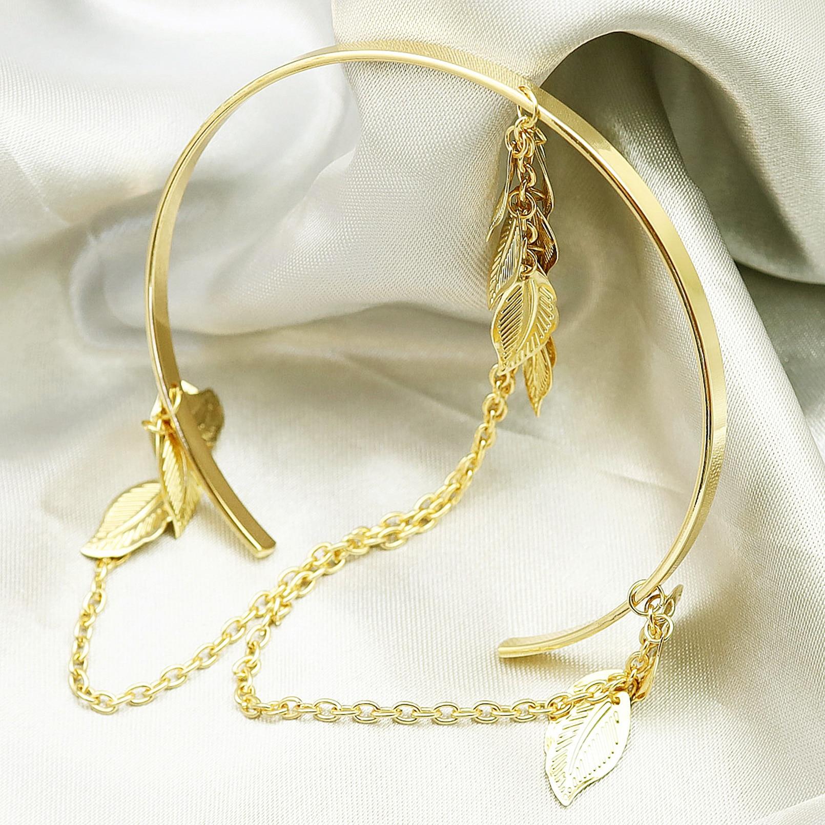 H3b1721b29d714f00b1e99665b6a6ab96p Prata banhado a ouro grego folha de louro pulseira braçadeira braço superior manguito armlet festival nupcial dança do ventre jóias