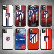 Atlético madrid futebol caso de telefone para iphone 12 pro max mini 11 pro xs max 8 7 6s plus x 5S se 2020 xr