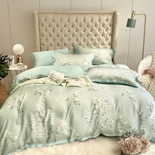hot sell quilt cover bedclothes bedding set double layer blanket simple fashion crystal thicken velvet quilt cover home supplies High-end bedding, simple bed linen, quilt bedding, 60 double-sided tencel four-piece home comfort printing quilt cover