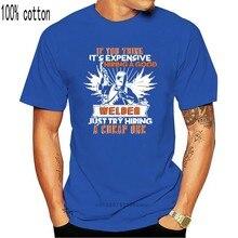 A contratação masculina de um bom soldador t camisa personalizada camiseta o-pescoço vintage bonito respirável kawaii camisa