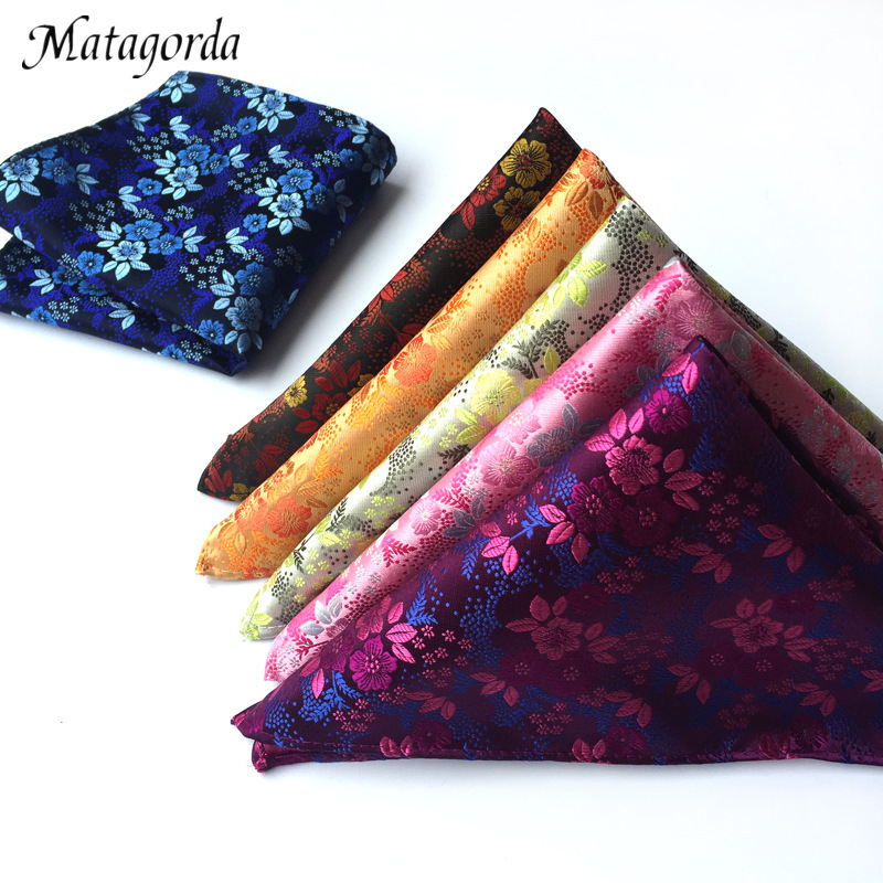 High Quality 25*25 Cm Man Paisley Flower Hanky Pocket Square Handkerchief Men Suit Accessory Wedding Party Silk Neckwear Scarf