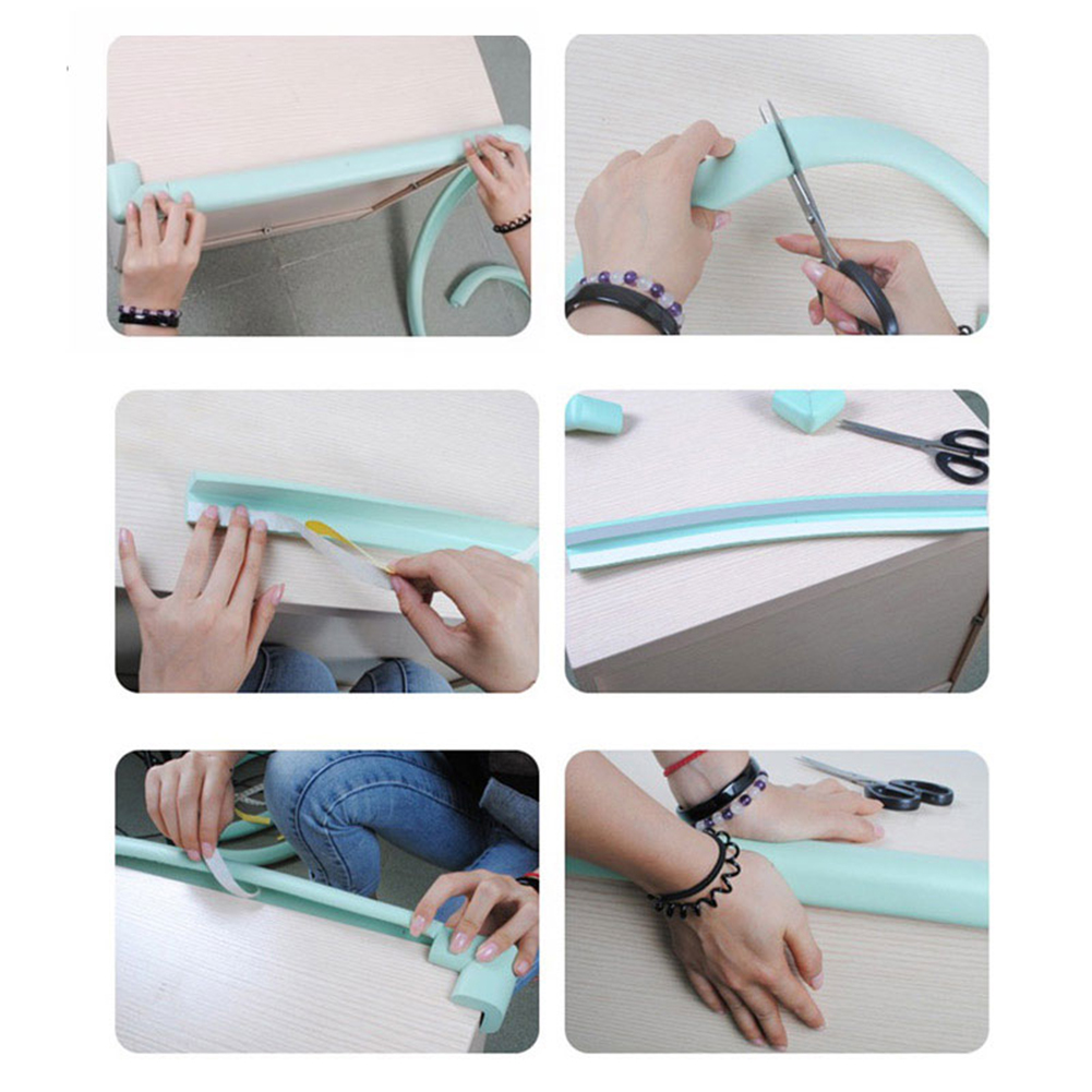 2m Baby Safety Table Bumper Strip Desk Edge Guard Home Cushion Protector Safe Protection Children Bar Soft Thicken Bumper Strip