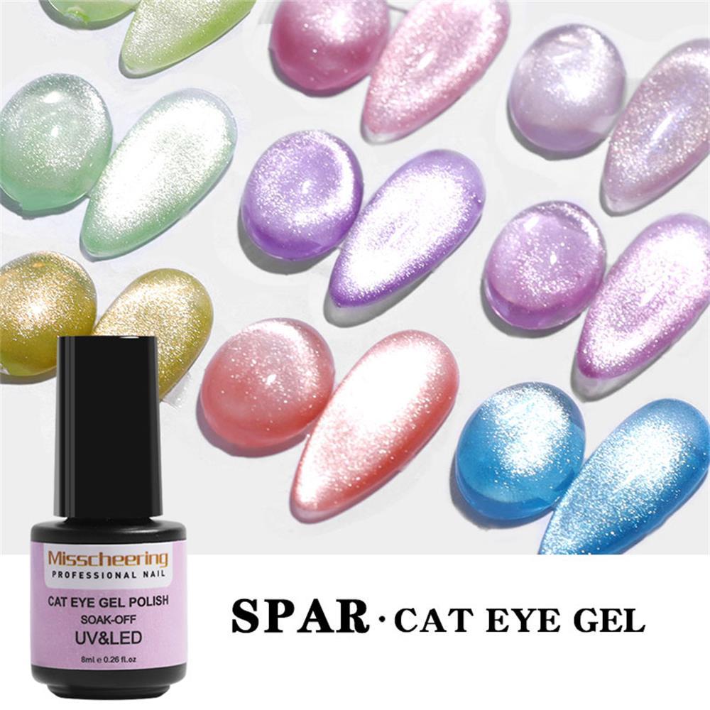 1 шт. 9D широкий кошачий глаз магнитный лак для ногтей долговечный Блестящий Яркий серебряный УФ-гель лак Эмаль лак Блестящий Маникюрный Инст...