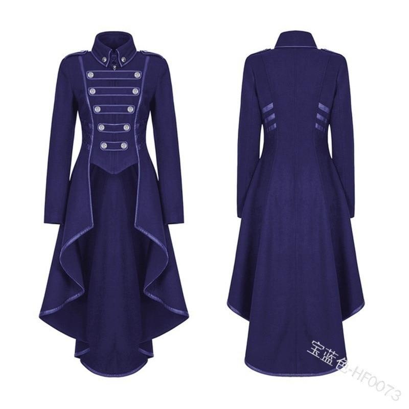 JIEZuoFang Black Medieval Dress For Adult Women Punk Victorian Retro Costume Renaissance Gothic Jacket Tuxedo Halloween Costumes