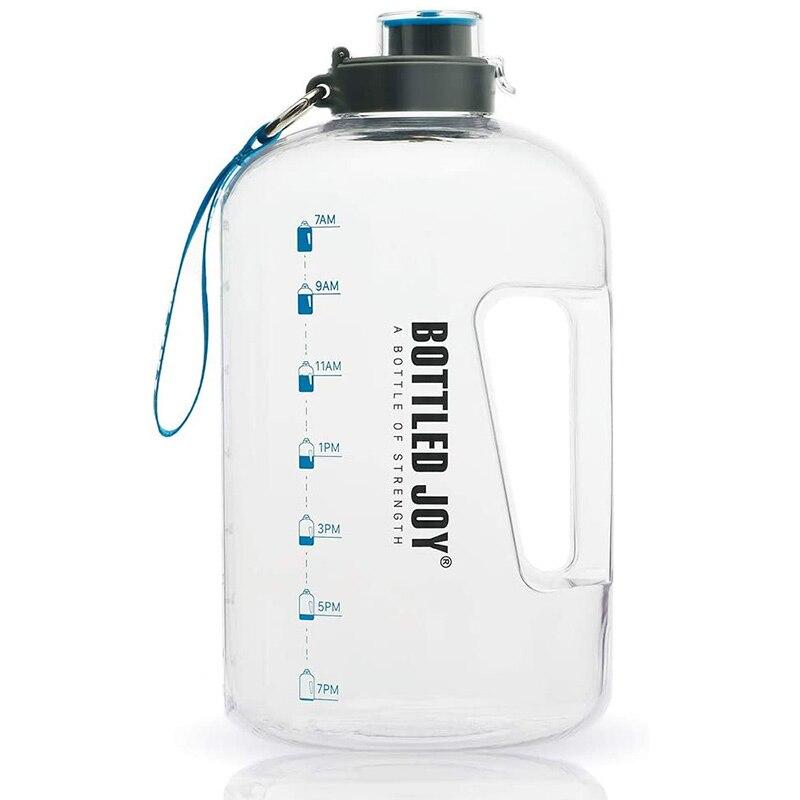 1 галлон, бутылка для воды, спортивный большой кувшин для активного отдыха, портативная пластиковая бутылка для питьевой воды для путешеств...