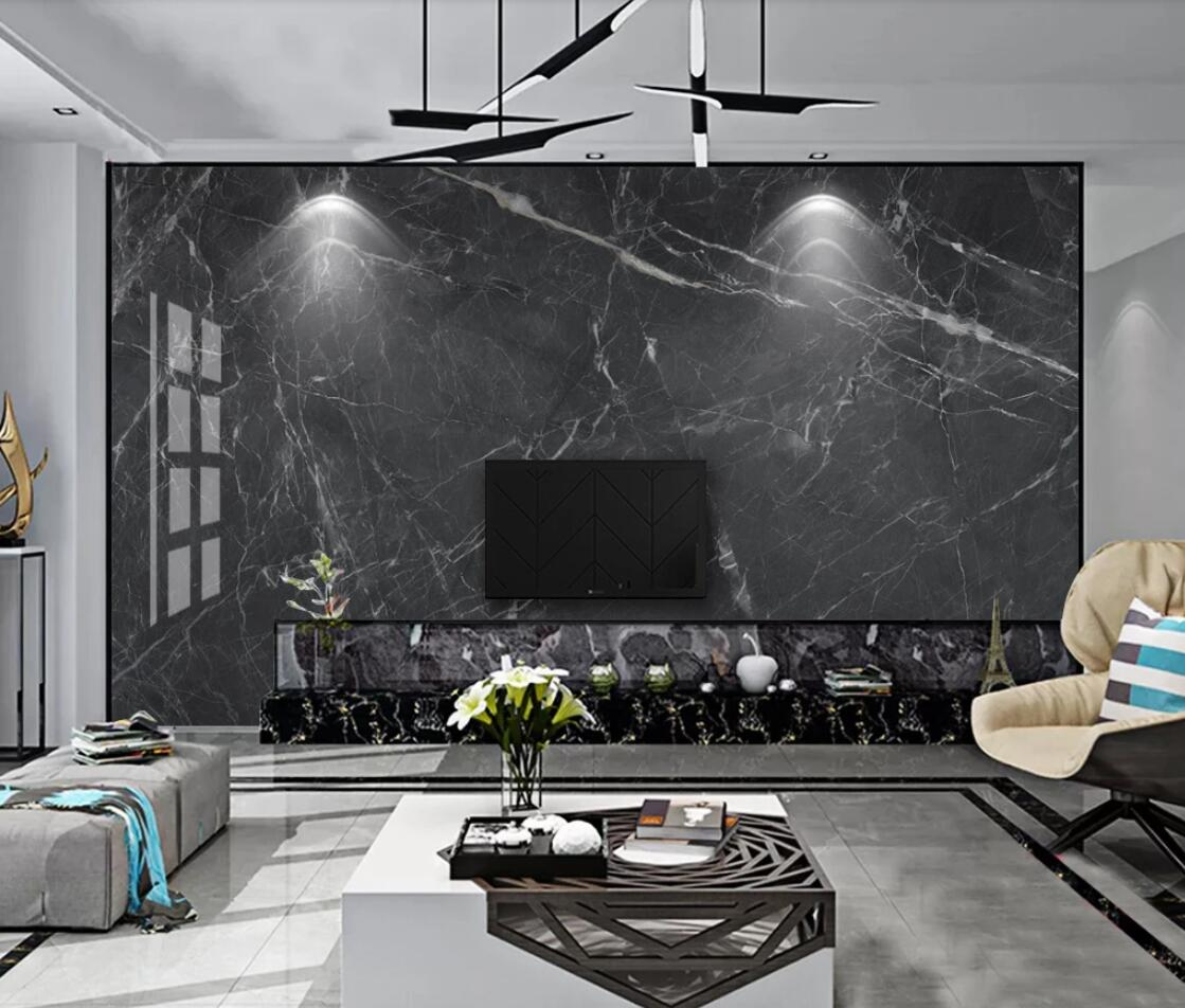 Modern Dark Grey Marble Contact Paper For Hotel Bar Cloth Paper Oil Painting Luxury High Quality 3d Brick Wallpaper Canvas Mural Wallpapers Aliexpress