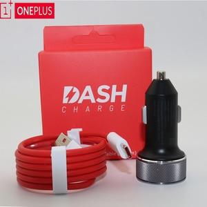 Image 1 - Originele Oneplus Dash autolader 5V4A Voor Een plus 6T 5/5 T/3/3 T dash Lading Adapter 1 M/1.5 M/2 M rode Ronde Dash USB Type C Kabel