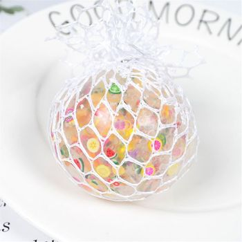 6cm Funny Fruit Slice Anti-Stress Squishy Ball Grape Squeeze Mood Autism Kids&Adult Play Vent Toys For Gift anti stress face reliever colorful ball autism mood squeeze relief healthy toy funny gadget vent toy children christmas gift
