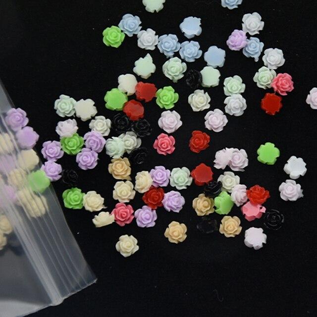 Фото 100 шт/пакет 3d смолы розы аксессуары для ногтей с подвесками