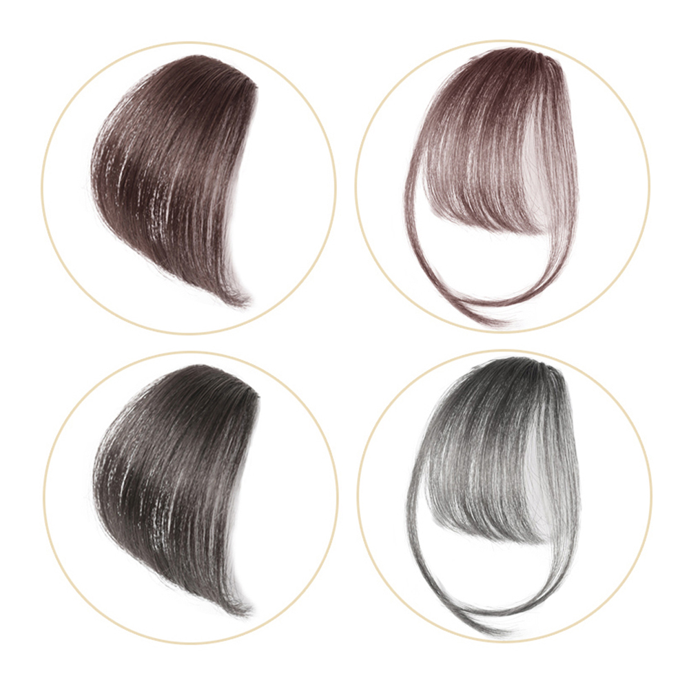 Salonchat 100% Human Hair Non-remy Hair Clip In Hair Bangs Hairpiece  Hair Piece Clip In Hair Extensions Blunt Clip On