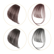 Hairpiece Human-Hair-Bangs Clip-On Real-Hair Salonchat Blonde Blunt Remy