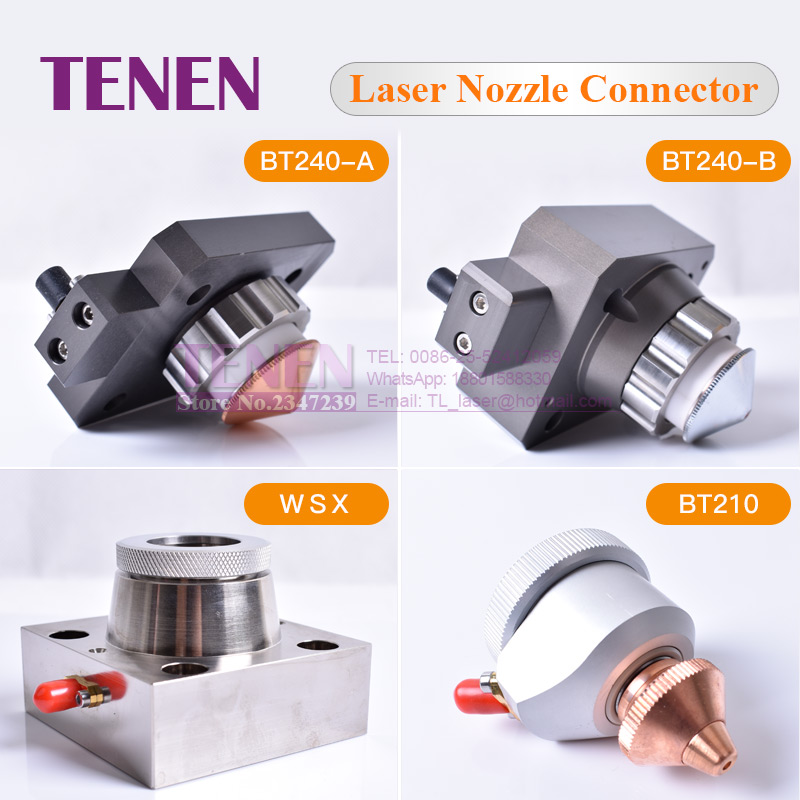 Raytools Fiber Laser Cutting Head BT210 BT230 BT240 BT240S WSX001A Nozzle Connection Part For Fiber Metal