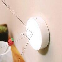 Luz LED nocturna con Sensor de movimiento, luz LED para debajo de gabinete recargable por USB para escaleras de interior, iluminación de pared para cabecera de baño y hogar