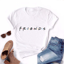 Summer New Fashion Harajuku Letter Printing Tops Casual Tee For Women Friends TV Show Shirt Gift White Pink T Shirt S M L XL XXL(China)