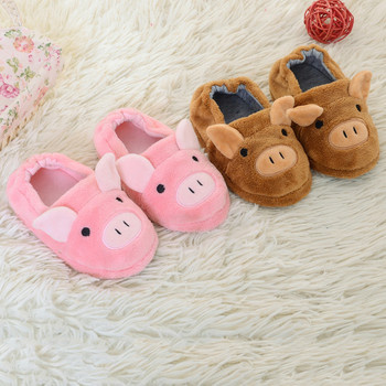 Children Shoes Toddler Infant Baby Cute Warm Shoes Boys Girls Cartoon Soft-Soled Kids Home Slippers Thickening Children Slippers