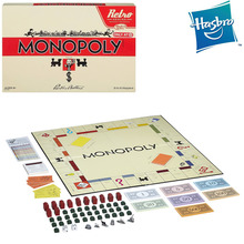 Original Hasbro Monopoly Retro Series English Edition Family Party Board Game Birthday Gift 3 To 6 Players Adult Toys for Boys