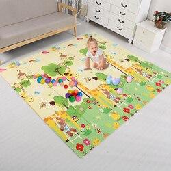 Детский игровой коврик с двойной поверхностью, детская комната, пазл, детский коврик с животными, утолщенный развивающий коврик для детей, и...