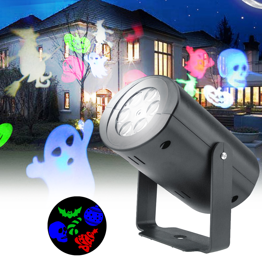 Image 3 - Anpro 12 Pattern Outdoor Waterproof LED Christmas Snowflake Projector Lamp Spotlight Birthday Halloween Wedding Projector Lights-in Holiday Lighting from Lights & Lighting on