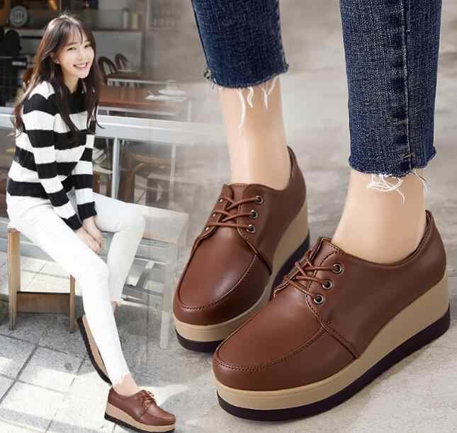 Shorha Sonbahar Bahar Moccasins Kadınlar Flats Moda Düz platform ayakkabılar kadın Loafer'lar Bayanlar bağcıksız ayakkabı Kadın büyük boy