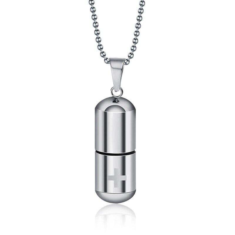 Chaîne souvenir Memorial Bijoux en Acier Inoxydable Collier Pendentif Bouteille de parfum