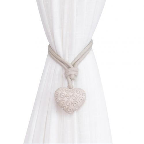 Romantic Heart Curtains Resin Straps Tie Back Home Decor Supplies ONE