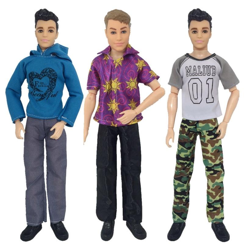 Одежда для куклы Кена, Повседневная Одежда для кукол, повседневный костюм, свитшот, брюки, костюм для свадебной вечеринки, Мужская одежда дл...