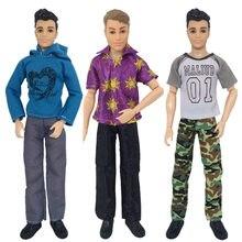 Ken boneca roupas boneca diário usar casual calças moletom terno festa de casamento terno homem masculino boneca roupas para 30cm boneca acessórios