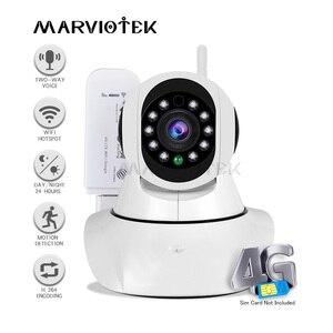 Cámara IP inalámbrica de 720P, wifi, minicámara de vigilancia, 360 grados, Pan Tilt, 4G LTE, FDD, cctv, 3G, ranura para tarjeta sim