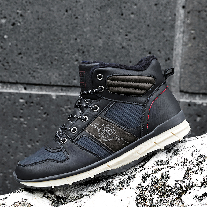 Snow Boots Winter Leather Men Casual Shoes Outdoor Waterproof Work Tooling Mens Hiking Boots Sneakers Warm Military Ankle Boots