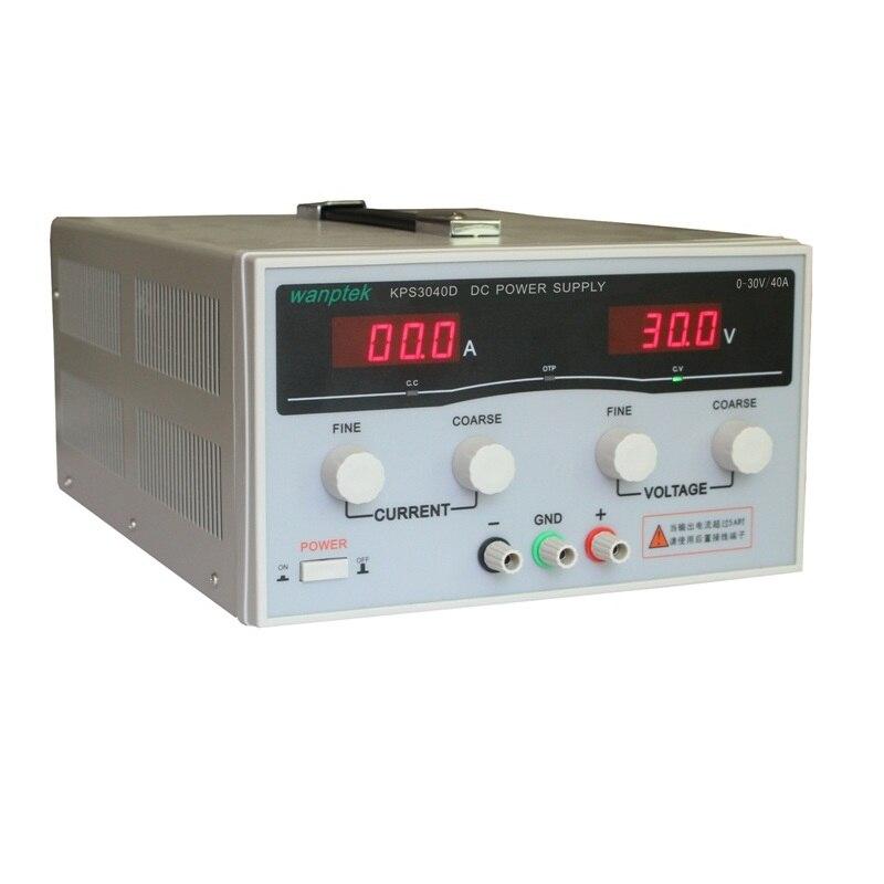 KPS3040D haute précision haute puissance réglable LED double affichage commutation DC alimentation 220V EU 30 V/40A
