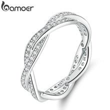 Bamoer 8 стилей плетеное кольцо с листьями Моя Принцесса Королева Корона серебряное кольцо Twist Of Fate Stackable RING Юбилейная распродажа