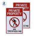 2 шт собственность без знак запрета несанкционированного проникновения 12x8 дюймов с защитой от ультрафиолетового излучения, металлический ...