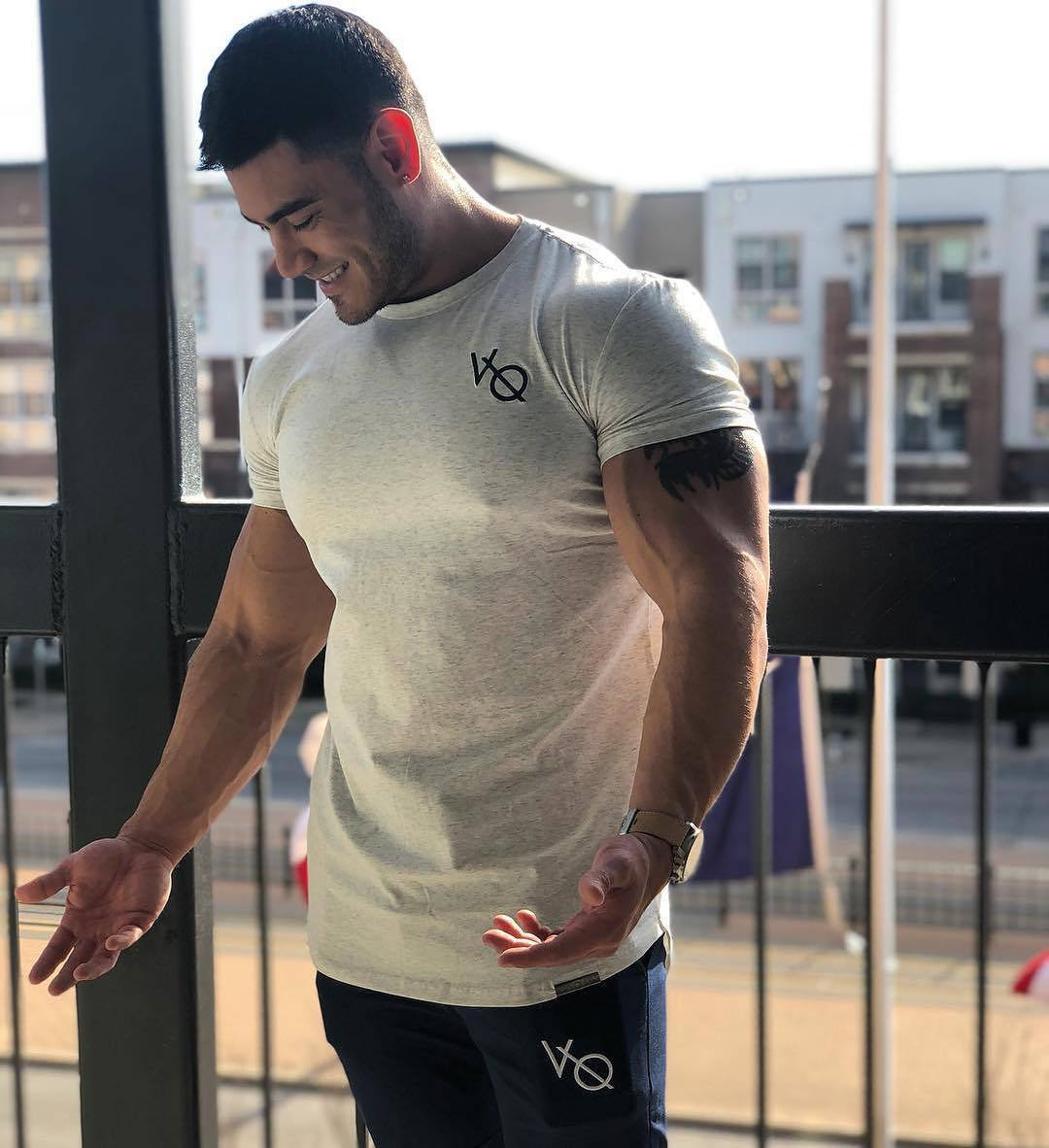 Muscle Dr. Brother 2018 Summer New Style Athletic T-shirt Fitness Running Fitness Casual Short Sleeved Shorts Suit