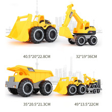 Big size Baby Shining Toy Car Engineering Car Excavator Model Tractor Toy Dump Truck Model Classic Toy Vehicle Mini Gift for Boy knl hobby j deere model a tractor agricultural vehicle safety model gift act ertl 1 16