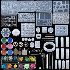 Epoxy-Casting-Molds-Tools-Set Jewelry Clay DIY Silicone Resin for Mixed-Style