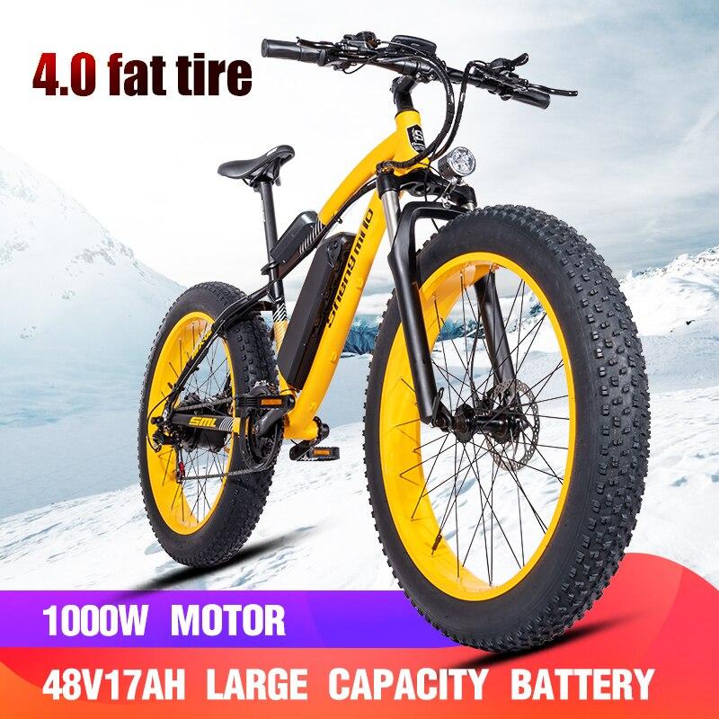 Elektryczny rower Bafang motor 500W Beach pomocniczy rower Rover elektryczny rower 48V17A litowy elec ebike Electric Beach car 26 calowy elektryczny skuter śnieżny