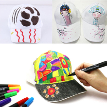 Child Personality DIY Design Trucker White Caps Hand-painted Hip Hop Caps Blank Baseball Hat For Kids Party Decoration cheap HELTFARM Children Polyester Boys Casual Adjustable cartoon