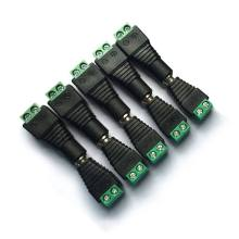 5 macho 5 hembra conector DC enchufe 5,5mm X 2,1mm barril conector adaptador de alimentación para TV(China)