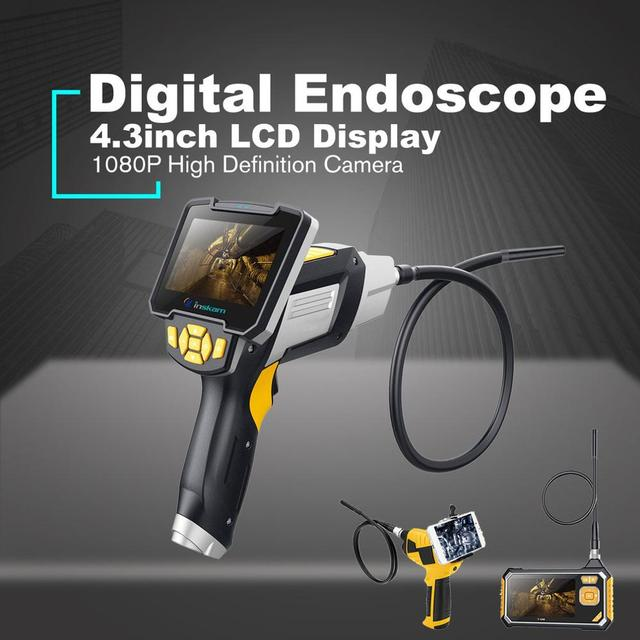 Antscope endoscópio industrial 1080 p hd câmera de inspeção para ferramentas de reparo automóvel cobra handheld duro 4.3 polegada lcd wifi borescope