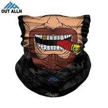 3D Joker masque facial hiver Ski Bandana cou fumer moto visage bouclier militaire crâne bandeau Trekking Camping randonnée écharpes